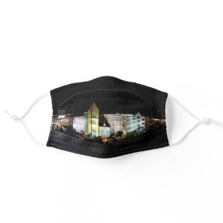 Willemstad Curacao at Night Adult Cloth Face Mask