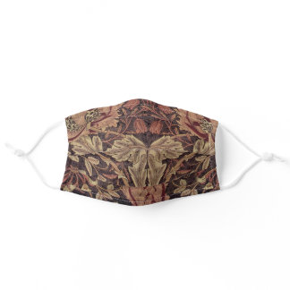 William Morris Honeysuckle Pattern Adult Cloth Face Mask