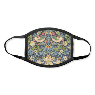 William Morris Strawberry Thief Floral Pattern Face Mask