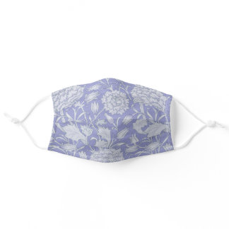 William Morris - Wild Tulips Purple Floral Pattern Adult Cloth Face Mask