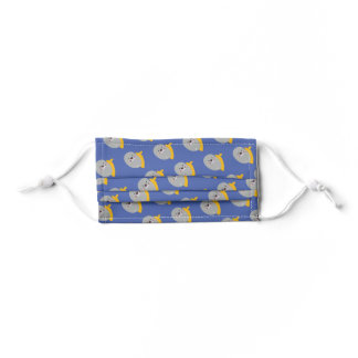 Winter Blue Cute Lil' Christmas Seal Pattern Kids' Cloth Face Mask