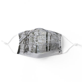 Winter Forest Path Cloth Face Mask