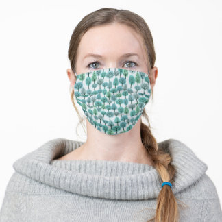 Winter Forest Pattern Adult Cloth Face Mask