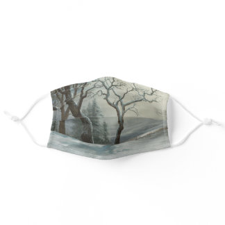 Winter in Yosemite Bierstadt Landscape Painting Adult Cloth Face Mask