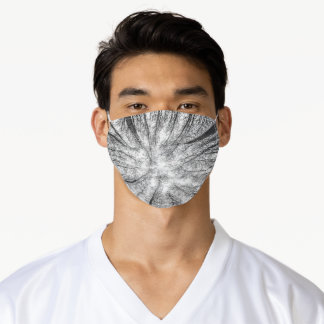 Winter trees silhouette #1 adult cloth face mask