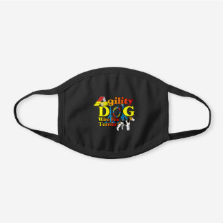 Wire Fox Terrier Agility Black Cotton Face Mask