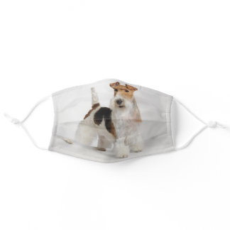 Wire Fox Terrier Photo Adult Cloth Face Mask