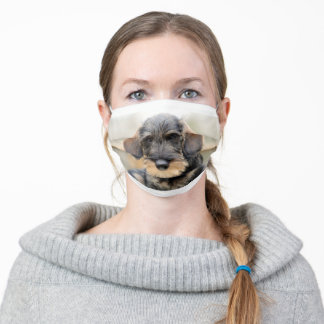 Wirehaired dachshund face mask