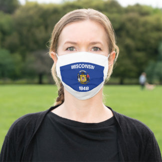 WISCONSIN STATE FLAG Face Mask