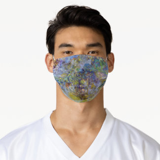 Wisteria by Claude Monet, Vintage Impressionism Adult Cloth Face Mask