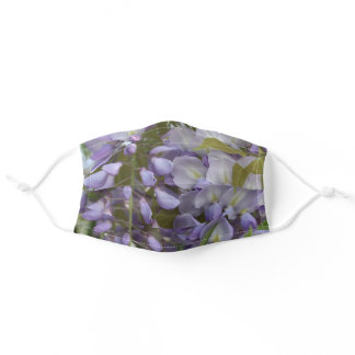 Wisteria Petals and Leaves Adult Cloth Face Mask