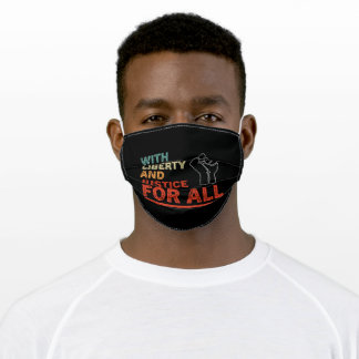 With Liberty And Justice For All Vitnage Adult Cloth Face Mask