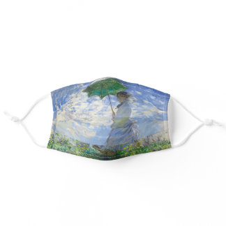 Woman with a Parasol, Madame Monet and Her Son Adult Cloth Face Mask