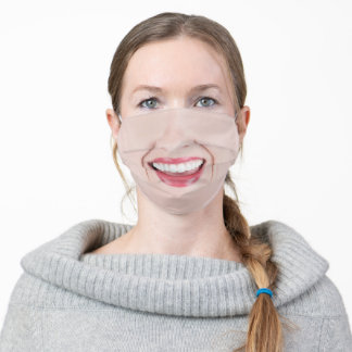 Woman's Smile Adult Cloth Face Mask