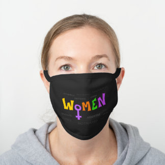 Women Black Cotton Face Mask