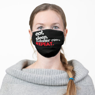 Womens Eat Sleep Lobster Roll Repeat Maine Lobster Adult Cloth Face Mask