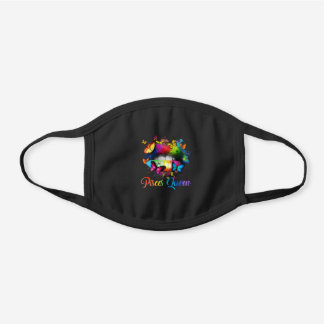 Womens Pisces Queens Lips Hippie Birthday Gift Black Cotton Face Mask