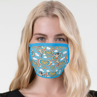 Wonder Woman Flying High Pattern Face Mask