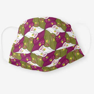 Wooden Shoes Tessellation Green/Purple/White Cloth Face Mask