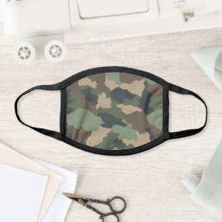Woodland Camouflage Khaki Green Brown Tan Face Mask