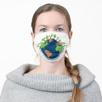 World Environment Change Power Adult Cloth Face Mask