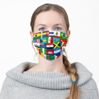 World Flags Collage Adult Cloth Face Mask