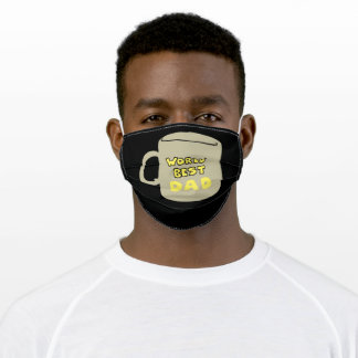 World's Best Dad Coffee Cup Adult Cloth Face Mask