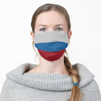 Woven Russia Flag Adult Cloth Face Mask