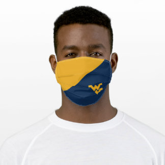 WVU West Virginia Color Block Adult Cloth Face Mask