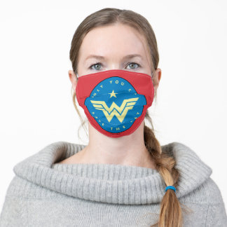 WW84   Wonder Woman Only You Can Save The Day Adult Cloth Face Mask