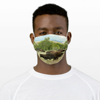 Wyoming Bison Nature Animal Photography Adult Cloth Face Mask