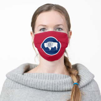 Wyoming Flag & America States, USA fashion/sport Adult Cloth Face Mask