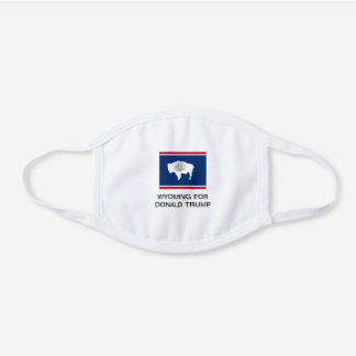 WYOMING FOR DONALD TRUMP 2020 FACE MASK