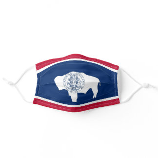 Wyoming State Flag Buffalo Comfortable Adult Cloth Face Mask