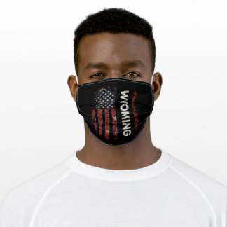 Wyoming USA Flag Adult Cloth Face Mask