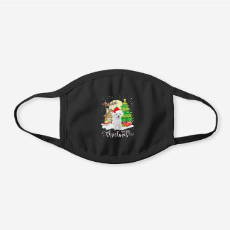 Xmas Gift | Bichon Frise Merry Christmas Black Cotton Face Mask