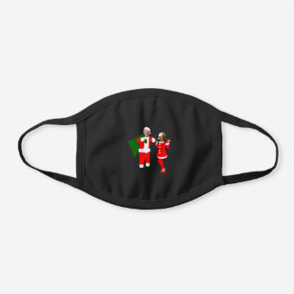 xmas joe biden santa kamala harris black cotton face mask
