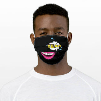 Yeah Pink Lips Adult Cloth Face Mask