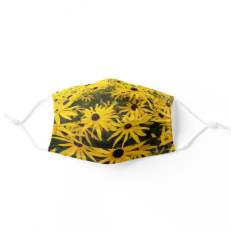 Yellow Black Eyed Susans Floral Adult Cloth Face Mask