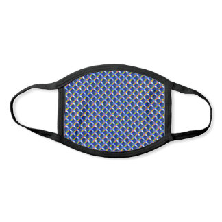 Yellow Blue Pixel Checkered Pattern Abstract Geeky Face Mask
