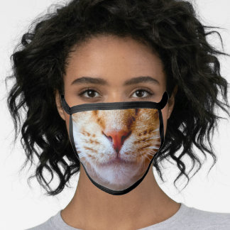 Yellow Cat Face Mask