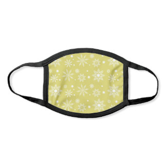 Yellow Christmas Holiday Snowflake Pattern Face Mask