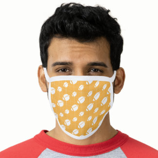 Yellow Football Grid Patterned Face Mask
