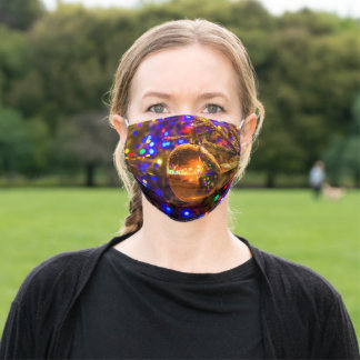 Yellow Glass Ornament Ball Adult Cloth Face Mask