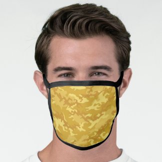 Yellow Gold Camo Camouflage Face Mask