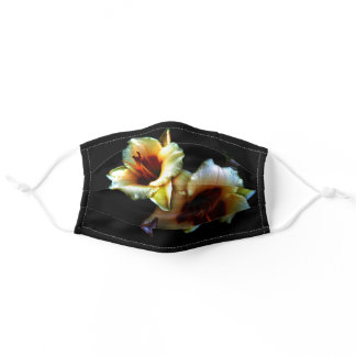 Yellow Lilies Flowers Adult Cloth Face Mask