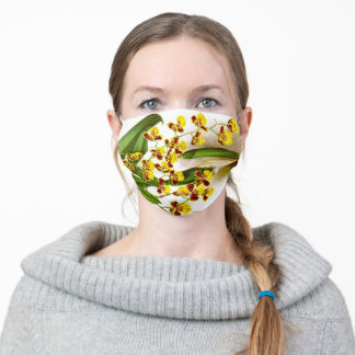 Yellow Orchid Fashion Adult Cloth Face Mask