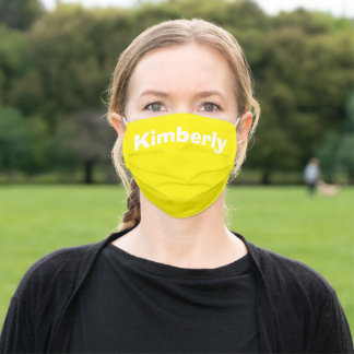 Yellow Personalized Name Cloth Face Mask