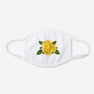 Yellow Rose of Texas 2-Layer Cotton Face Mask