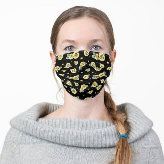Yellow Roses | Art Nouveau Glasgow Rose Style Adult Cloth Face Mask